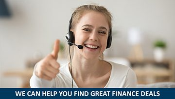 Satisfied happy girl wearing headset with microphone showing thumbs up giving recommendation, friendly woman student like customer support, consultant call service operator looking at camera portrait